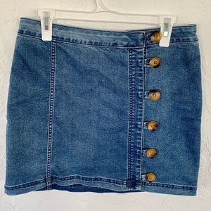 Free People denim mini